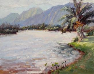 111. Moli'i Pond, Kualoa Ranch     11 x14 2016 - Copy