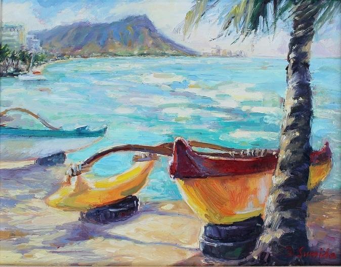55. Waikiki Beach 11x14 2015