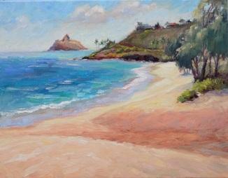 118.  Kailua Beach 14x18 2016 Gallerywrap
