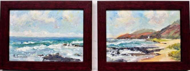 Sandy Beach diptych