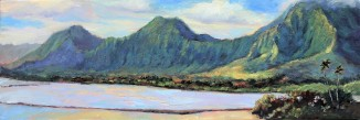 197. Ko'olau, from He'eia 12x36 canvas