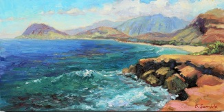 206. Kahe Point 12x24 canvas