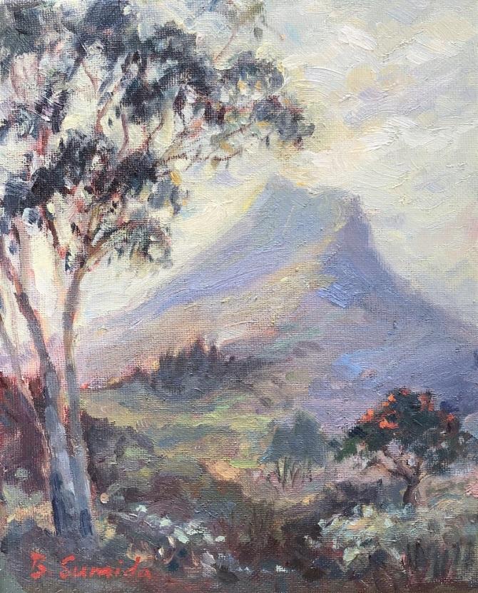 Olomana friom Maunawili Park 8x10 canvas 2019